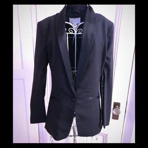 Black tuxedo style blazer